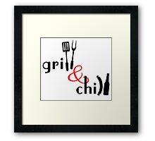 Grill & Chill Framed Print