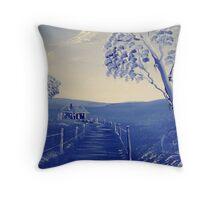Blue Shack Throw Pillow