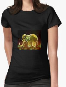Elephant And Stars Womens Fitted T-Shirt