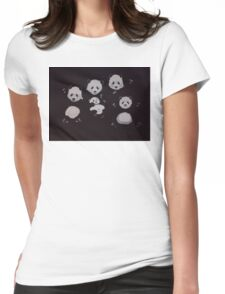 Panda bear family - Pandamonium! Womens Fitted T-Shirt