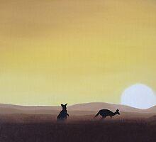 Kangaroos by davidbelcastro