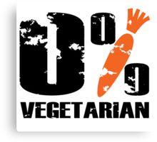 0 % Vegetarian Canvas Print