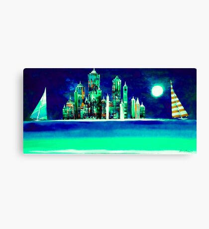 Big City Sailing Canvas Print