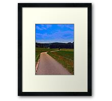 Yet another boring hiking trail picture | landscape photography Framed Print
