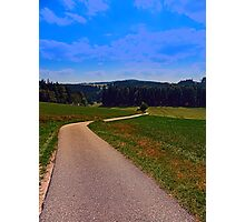 Yet another boring hiking trail picture | landscape photography Photographic Print