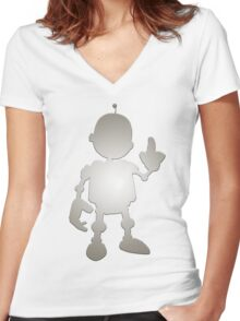 R&C - Clank Women's Fitted V-Neck T-Shirt