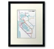Regional Rapid Transit for the Bay Area Framed Print