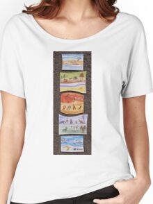 Puzzle Painting Animals from Earth Women's Relaxed Fit T-Shirt