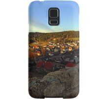 Village skyline below the castle at sundown | landscape photography Samsung Galaxy Case/Skin