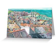 St Ives Chimney pots Greeting Card