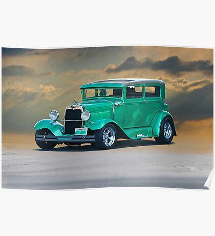 1928 Ford Model A Sedan Poster