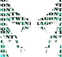 twin dragon Sticker