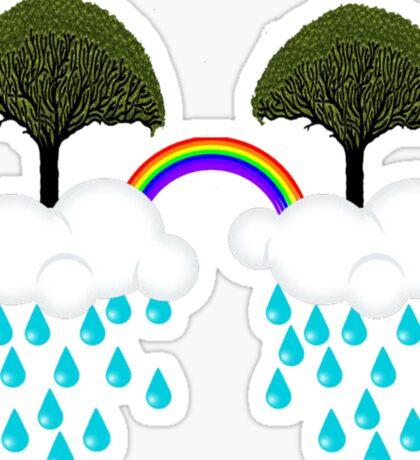 rainbow tree Sticker