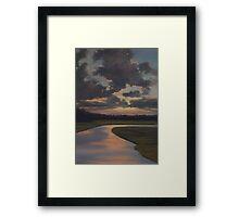 evening convergance Framed Print