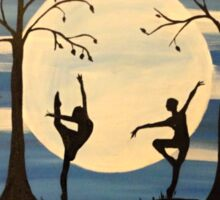Dance by the light of the moon Sticker