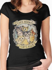 Cats Against Catcalls Women's Fitted Scoop T-Shirt