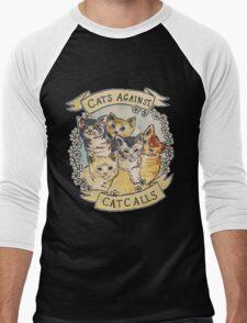 Cats Against Catcalls Men's Baseball ¾ T-Shirt