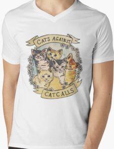 Cats Against Catcalls Mens V-Neck T-Shirt