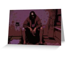 The Big Lebowski Painting Greeting Card