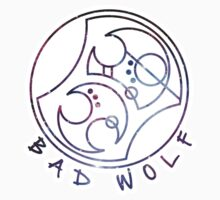 'Bad Wolf' in Gallifreyan - Galaxy by ChibiPeppers
