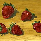 Handful of Strawberries by bernzweig
