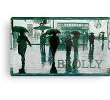 Brolly Brains. Metal Print