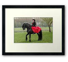 Friesian Horse and Rider Framed Print