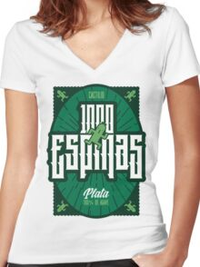 Mil Espinas Tequila | FINAL FANTASY Women's Fitted V-Neck T-Shirt