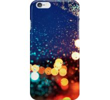 Raindrops and Evening Lights iPhone Case/Skin