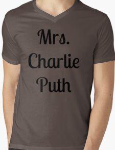 Mrs. Charlie Puth Mens V-Neck T-Shirt