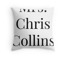 Mrs. Chris Collins Throw Pillow