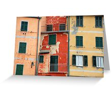 All About Italy. Piece 5 - Riomaggiore Colors Greeting Card
