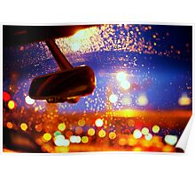 Raindrops on the Car Window Poster