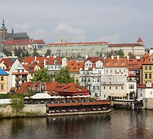 Prague Castle Across the River by Robert Worth