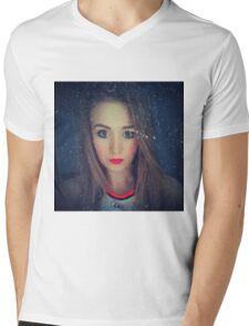 Hipster girl Mens V-Neck T-Shirt