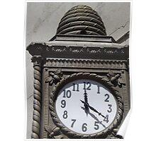 Classic Beehive Clock, Chelsea, New York City Poster