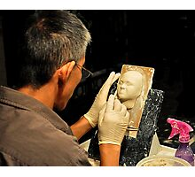 Clay Sculptor Photographic Print