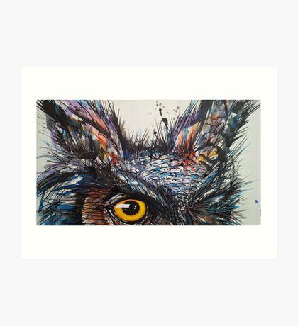 'Owl Insanity' 2014 Art Print