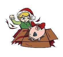 Christmas Pig Photographic Print