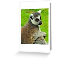 Lemur One Greeting Card