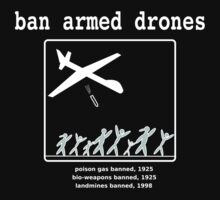 Ban armed drones by Rhona Mahony