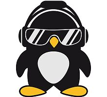 Penguin with headphones by Style-O-Mat
