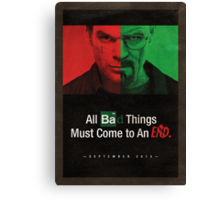 Breaking Bad and Dexter Finale Canvas Print