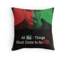 Breaking Bad and Dexter Finale Throw Pillow