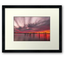 Clouds on Fire - Cleveland Qld Australia Framed Print