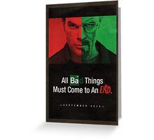 Breaking Bad and Dexter Finale Poster Greeting Card