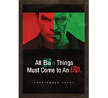 Breaking Bad and Dexter Finale Poster Photographic Print