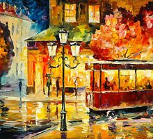 LAST TROLLEY by Leonid  Afremov