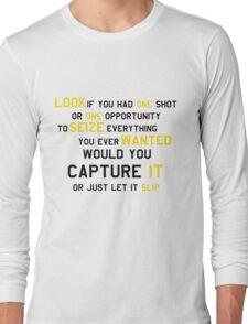 EMINEM MOTIVATIONNAL SHIRT BLACK&YELLOW Long Sleeve T-Shirt