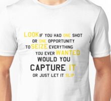 EMINEM MOTIVATIONNAL SHIRT BLACK&YELLOW Unisex T-Shirt